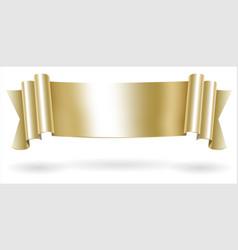 golden decorative scroll banner vector image