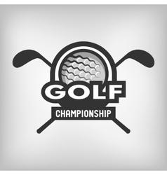 Golf sports logo vector