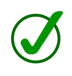green check mark icon tick symbol vector image
