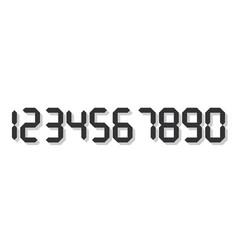 Grey 3d-like digital numbers seven-segment vector