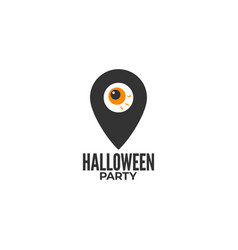 halloween party location icon on white background vector image