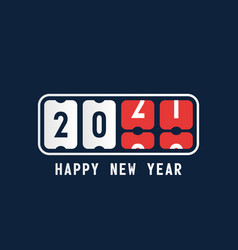 happy new year with 2021 scoreboard concept of vector image