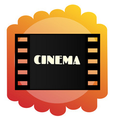 Icon of the cinema cinematography and films vector