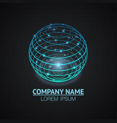 internet network sign logo icon vector image