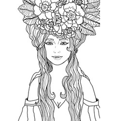 isolated of fairy with long hair vector image