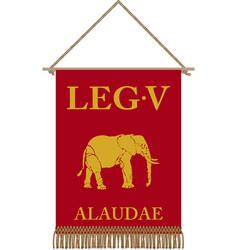 Legio v alaudae standard vector
