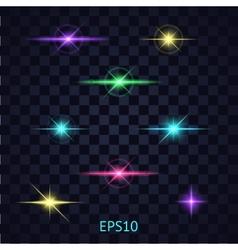 lights on transparent background vector image