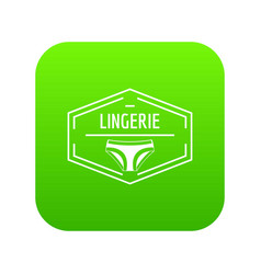 lingerie body icon green vector image