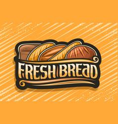 Logo for fresh bread vector