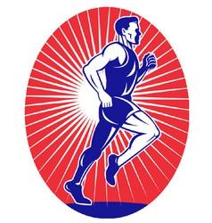 marathon road runner jogger fitness vector image vector image