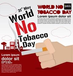 May 31st world no tobacco day vector