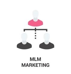 Mlm marketing icon vector