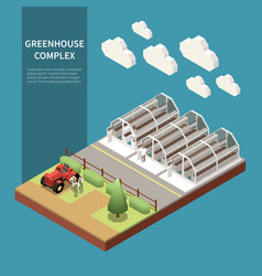 Modern greenhouse concept vector