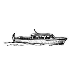 Motor boat vector