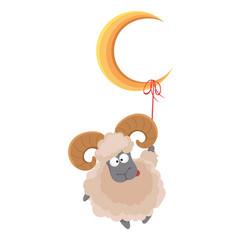 Muslim traditional holiday eid al-adha vector