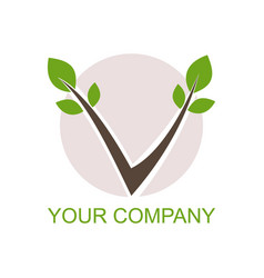 Nature logo v initial vector