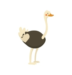 Ostrich Realistic Childish vector image