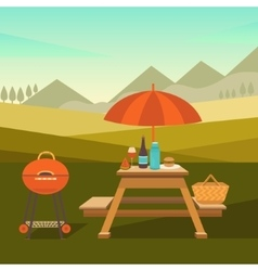 Picnic in park vector