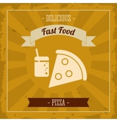 Pizza icon Menu and food design graphic vector