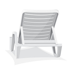 plastic beach chair vector image
