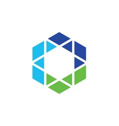 Polygon triangle colored logo vector