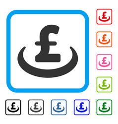 Pound deposit placement framed icon vector