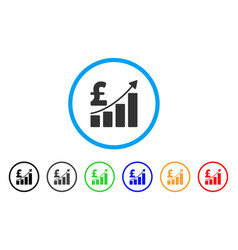 pound sales growth chart rounded icon vector image