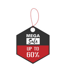 price tag mega sale up to 50 image vector image