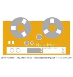 Recorder Business Card vector