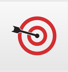 Red target icon isolated modern simple flat conce vector