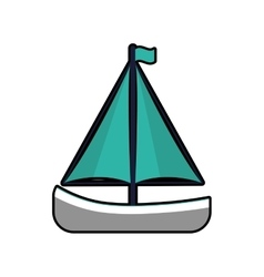 Sailboat sea lifestyle nautical marine icon vector