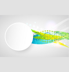 Science template banner with a dna molecules vector