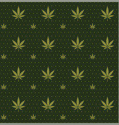 Seamless marijuana cannabis pattern image vector