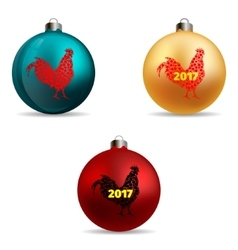 Set Colors Christmas balls vector image