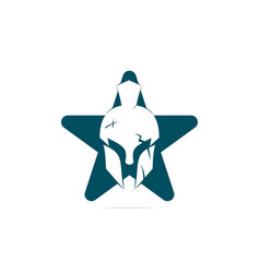 Spartan star shape concept logo vector