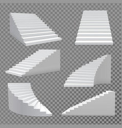 Stairs set vector