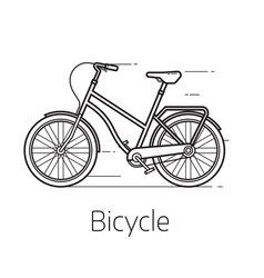 Street bicycle vector