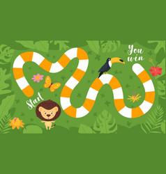 Tropic jungle board game vector
