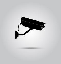 Video surveillance icon vector