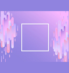 Violet glitched background with copy space vector