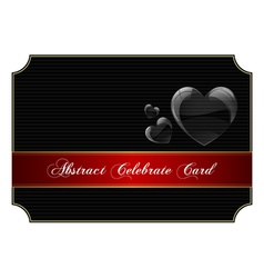 Abstract black celebrate card vector image