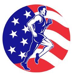american marathon runner jogger vector image