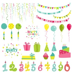 Birthday and Party Set vector image vector image