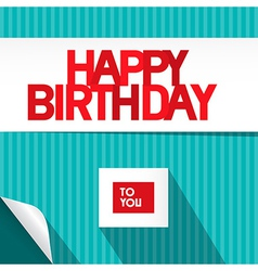 Happy Birthday Blue and Red Background vector image vector image