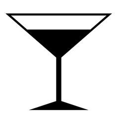 martini glass the black color icon vector image