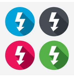 Photo flash sign icon Lightning symbol vector image