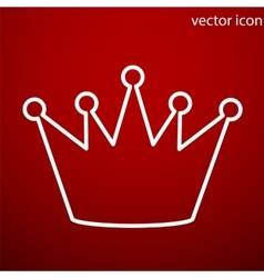 Crown icon and jpg Flat style object Art vector image vector image