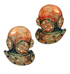 Diving Helmet vector image vector image