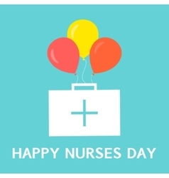 International nurses day poster vector image vector image