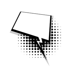 Template comic speech square lightning bubble vector